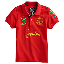 Buy Little Joule Harry Polo Shirt, Red Online at johnlewis.com