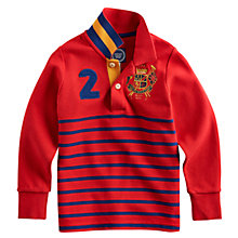Buy Little Joule Junior Farris Rugby Shirt, Red Online at johnlewis.com