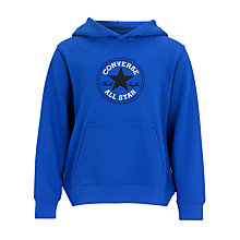 Buy Converse Boys' Fleece Hoodie, Blue Online at johnlewis.com
