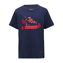 Buy Converse Boys' Stencil T-Shirt, Navy Online at johnlewis.com