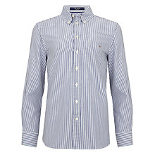 Buy Gant Boys' Banker Long Sleeved Shirt, Blue Online at johnlewis.com