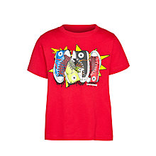 Buy Converse Boys' Shoe Star Burst T-Shirt, Red Online at johnlewis.com