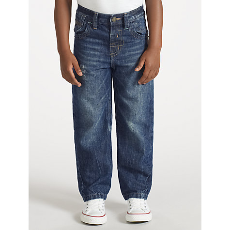 Buy John Lewis Boy Loose Fit Denim Jeans, Blue Online at johnlewis.com