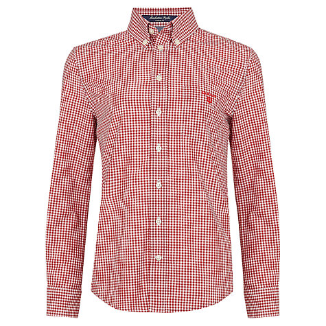 Buy Gant Manhattan Gingham Shirt, Red/White Online at johnlewis.com