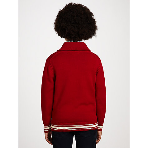 Buy Gant Boys' Shawl Collar Jumper, Red Online at johnlewis.com