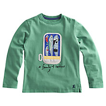 Buy Little Joule Jack Long Sleeve Sardine T-Shirt, Green Online at johnlewis.com