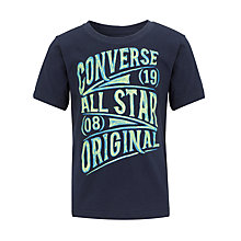 Buy Converse Boys' Glow-in-the-Dark T-Shirt, Navy Online at johnlewis.com