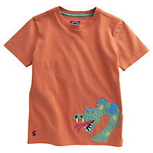 Buy Little Joule Archie Dragon T-Shirt, Orange Online at johnlewis.com