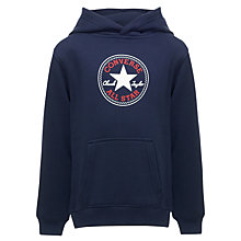 Buy Converse Boys' Fleece Hoodie, Indigo Online at johnlewis.com