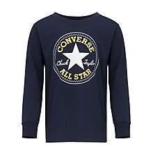 Buy Converse Boys' Chuck Long Sleeved Top, Navy Online at johnlewis.com