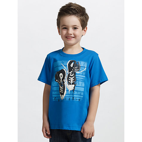 Buy Converse Boys' Shoe T-Shirt, Blue Online at johnlewis.com
