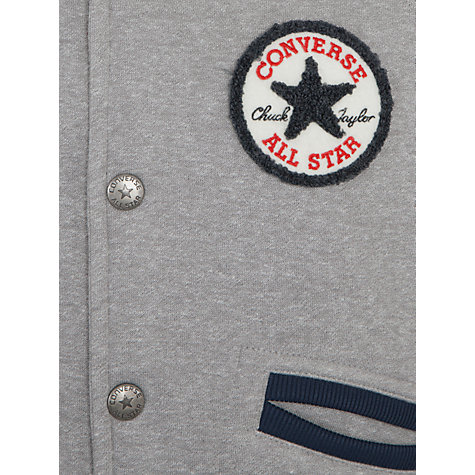Buy Converse Boys' Fleece Varsity Jacket, Grey Online at johnlewis.com