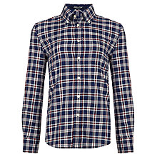 Buy Gant Boys' Madison Twill Long Sleeve Shirt, Navy/Red Online at johnlewis.com