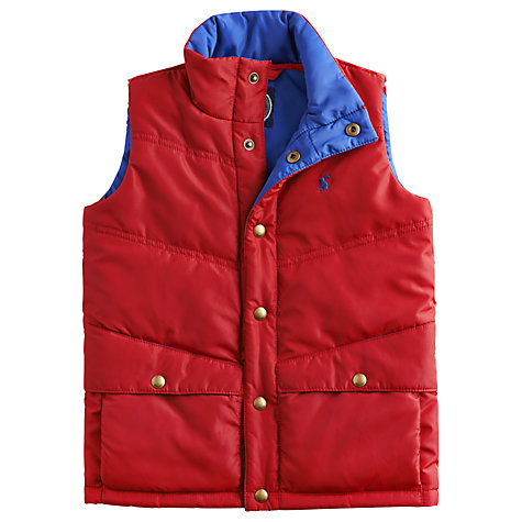 Buy Little Joule Hamlin Gilet, Red Online at johnlewis.com