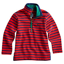 Buy Little Joule Dale Stripe Zip Through Jumper, Red/Navy Online at johnlewis.com