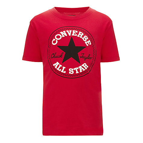 Buy Converse Boys' Chuck Taylor Patch T-Shirt, Red Online at johnlewis.com