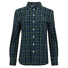 Buy Gant Boys' Library Poplin Checked Long Sleeved Shirt Online at johnlewis.com