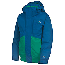 Buy Trespass Boys' Orville Ski Jacket, Green/Blue Online at johnlewis.com