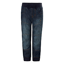 Buy John Lewis Boy Elasticated Waist Jeans, Blue Online at johnlewis.com