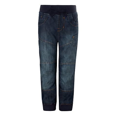 Buy John Lewis Boy Elasticated Waist Denim Jeans, Blue Online at johnlewis.com