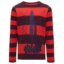 Buy John Lewis Boy Rocket Stripe Top, Red/Blue Online at johnlewis.com