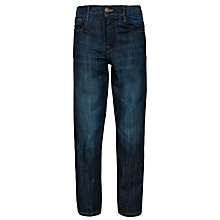 Buy John Lewis Boy Skinny Fit Denim Jeans, Dark Blue Online at johnlewis.com