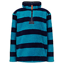 Buy John Lewis Boy Shaggy Striped Fleece, Blue Online at johnlewis.com