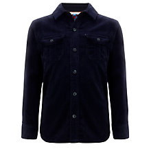 Buy John Lewis Boy Corduroy Long Sleeved Shirt, Navy Online at johnlewis.com