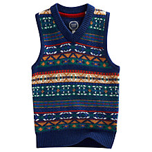 Buy Little Joule Junior Ramsey Fair Isle Tank Top, Blue/Multi Online at johnlewis.com