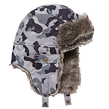 Buy John Lewis Boy Ski Trapper Hat, Grey Online at johnlewis.com