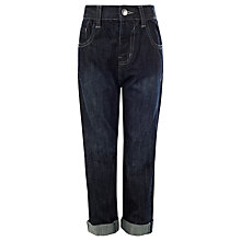 Buy John Lewis Boy Loose Fit Tinted Jeans, Dark Blue Online at johnlewis.com