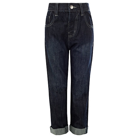 Buy John Lewis Boy Loose Fit Tinted Denim Jeans, Dark Blue Online at johnlewis.com