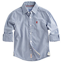 Buy Little Joule Junior Lockhart Stripe Shirt, Blue Online at johnlewis.com