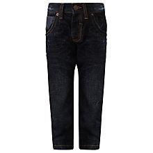 Buy John Lewis Boy Twisted Plastisol Denim Jeans, Blue Online at johnlewis.com