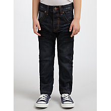 Buy John Lewis Boy Twisted Plastisol Jeans, Blue Online at johnlewis.com