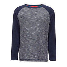 Buy John Lewis Boy Fleck Raglan Top, Navy Online at johnlewis.com