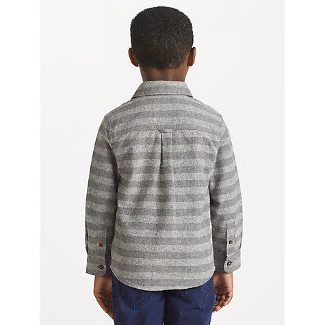 Buy John Lewis Boy Horizontal Striped Fleck Shirt, Grey Online at johnlewis.com