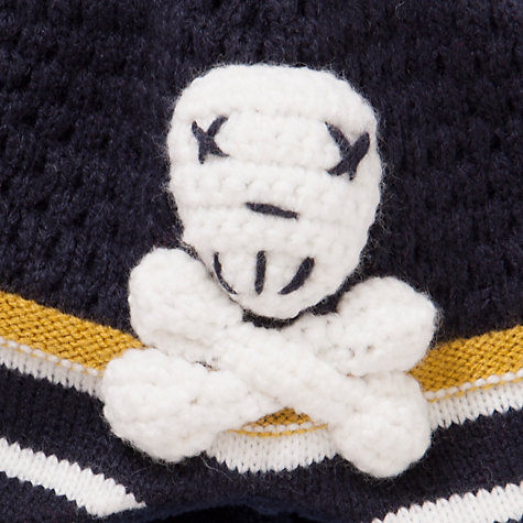 Buy John Lewis Boy Skull & Crossbone Trapper Hat, Navy/Cream Online at johnlewis.com