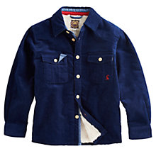 Buy Little Joule Junior Ronan Shirt Jacket, Navy Online at johnlewis.com