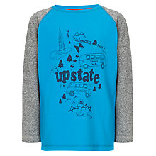 Buy John Lewis Boy Upstate Long Sleeved Top, Blue Online at johnlewis.com