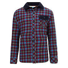 Buy John Lewis Boy Corduroy Trimmed Checked Shirt Online at johnlewis.com