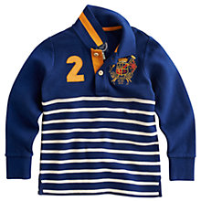 Buy Little Joule Junior Farris Rugby Shirt, Navy Online at johnlewis.com