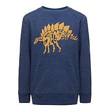 Buy John Lewis Boy Stegosaurus Jumper, Denim Marl Online at johnlewis.com