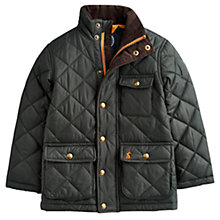 Buy Little Joule Junior Rutledge Quilted Jacket, Dark Green Online at johnlewis.com