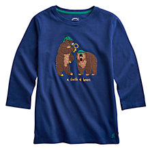 Buy Little Joule Junior Jack Bear Long Sleeve Top, Navy Online at johnlewis.com