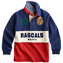 Buy Little Joule Junior Rascals Rugby Shirt, Multi Online at johnlewis.com