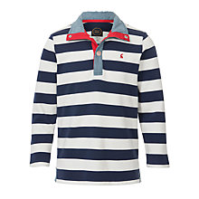 Buy Little Joule Captain Fleece, Navy/White Online at johnlewis.com