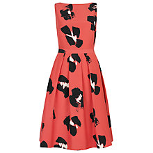 Buy Havren Japanese Flower Print Dress, Grapefruit Online at johnlewis.com