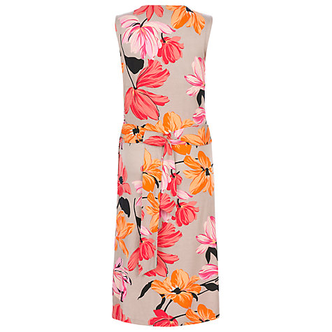 Buy Havren Floral Print Wrap Dress, Putty Online at johnlewis.com