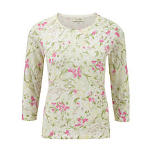 Buy Viyella Floral Garden Print Jumper, Sage Online at johnlewis.com